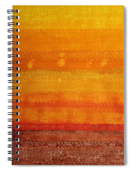 Earth And Sky Original Painting Spiral Notebook