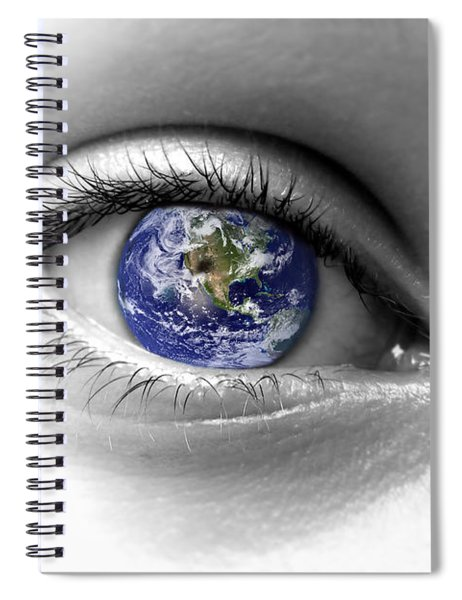 Earth Eye Spiral Notebook