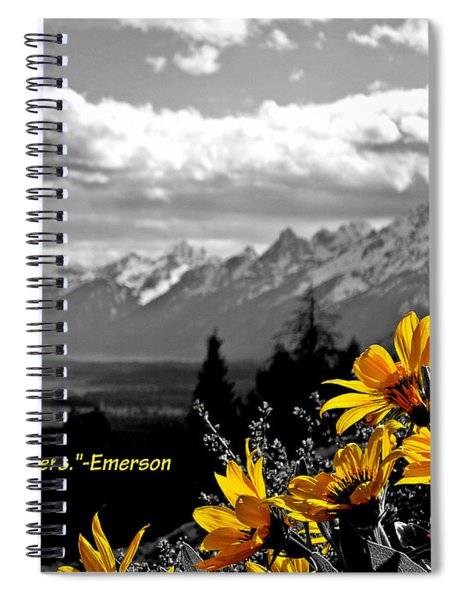 Earth Laughs In Flowers Spiral Notebook