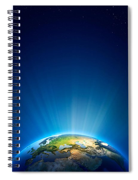 Earth Radiant Light Series - Europe Spiral Notebook