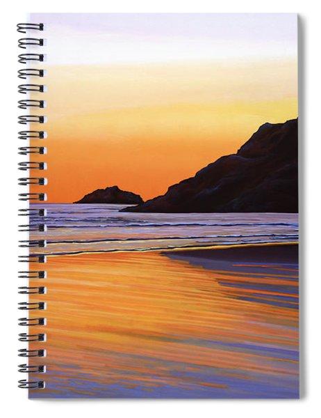 Earth Sunrise Sea Spiral Notebook