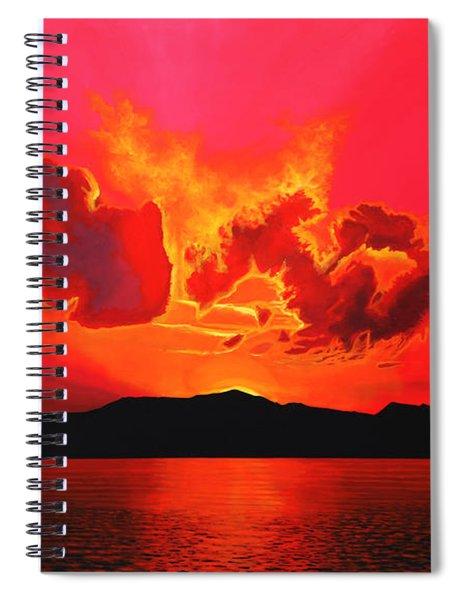 Earth Sunset Spiral Notebook