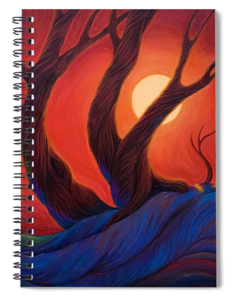 Spiral Notebook featuring the painting Earth  Wind  Fire by Sandi Whetzel