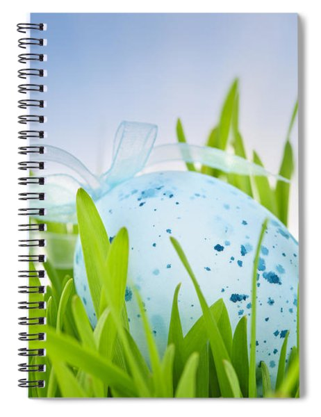 Easter Egg In Grass Spiral Notebook