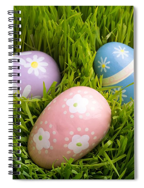 Easter Eggs In The Grass Spiral Notebook