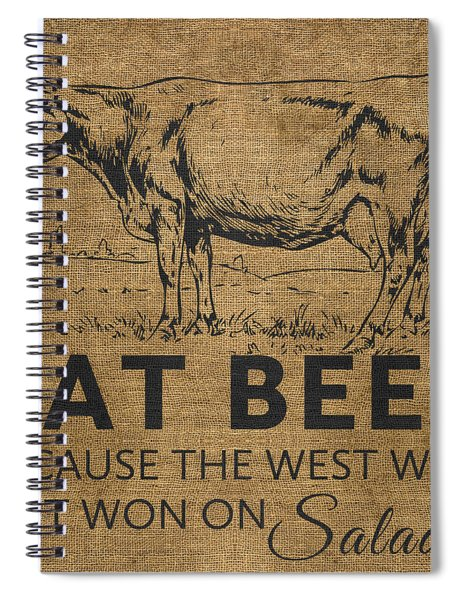 Eat Beef Spiral Notebook