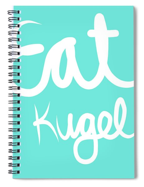 Eat Kugel - Blue And White Spiral Notebook