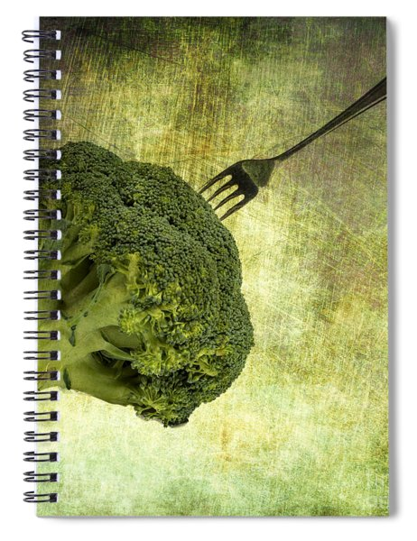 Eat Your Broccoli Spiral Notebook