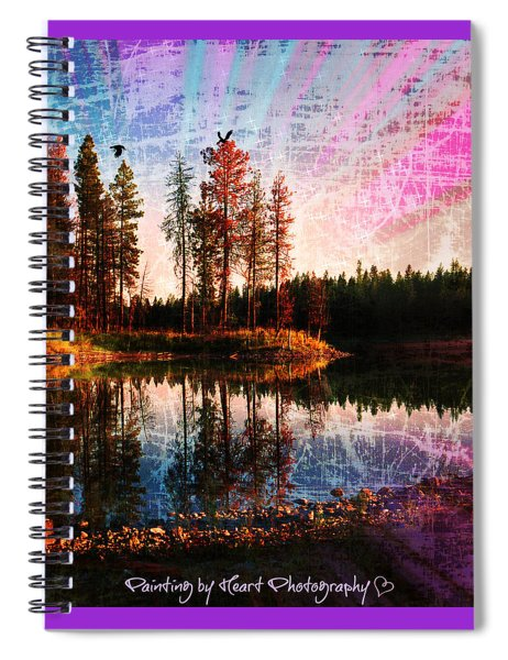Echo Lake In Montana Spiral Notebook