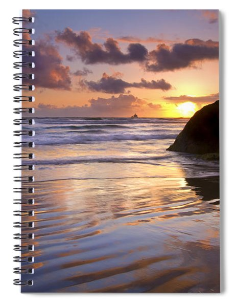 Ecola Sunset Spiral Notebook