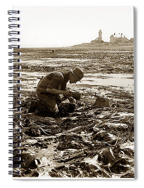 Ed Ricketts At Point Wilson Lighthouse In Port Townsend Wa July 1930 Spiral Notebook