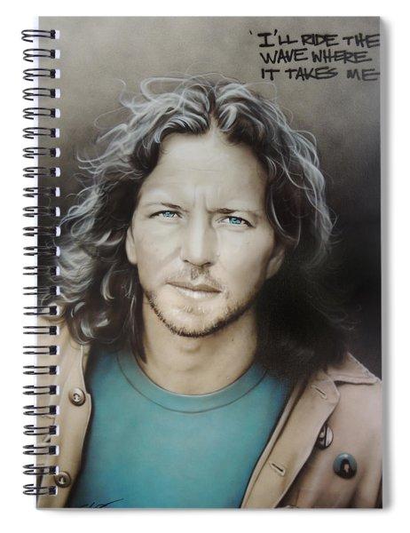 Eddie Vedder Spiral Notebook