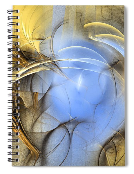 Eden - Abstract Art Spiral Notebook