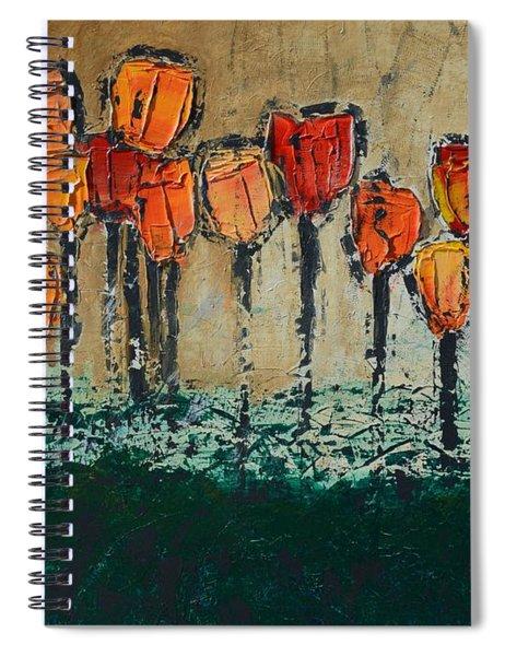 Edgey Tulips Spiral Notebook
