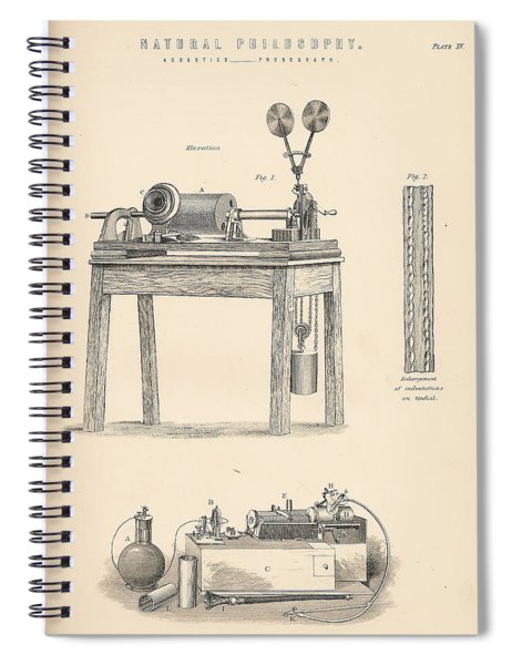 Edison's Phonograph Spiral Notebook
