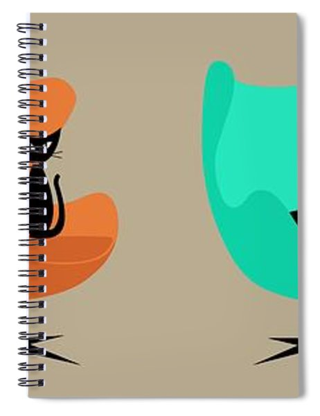 Egg Chairs Spiral Notebook