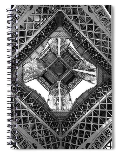 Eiffel Abstract Spiral Notebook