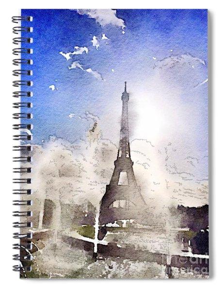 Eiffel During Summer Spiral Notebook