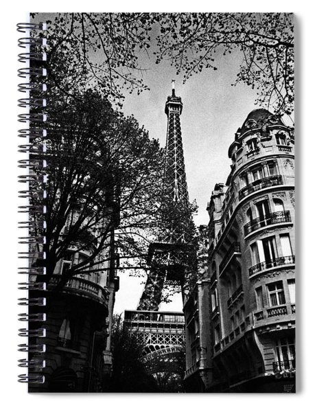 Eiffel Tower Black And White Spiral Notebook