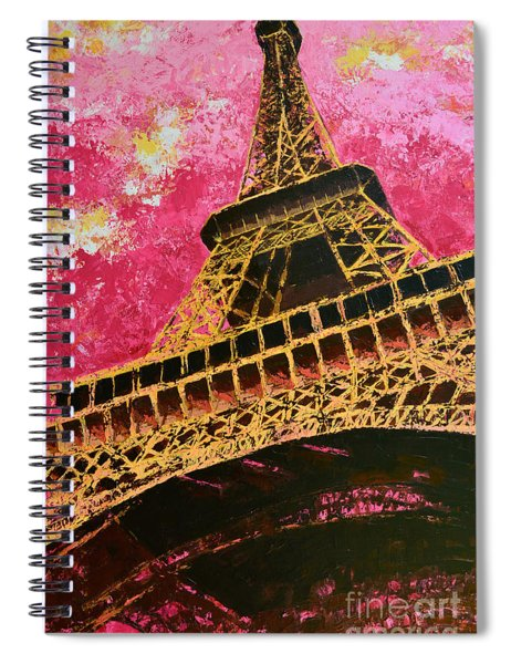 Eiffel Tower Iconic Structure Spiral Notebook