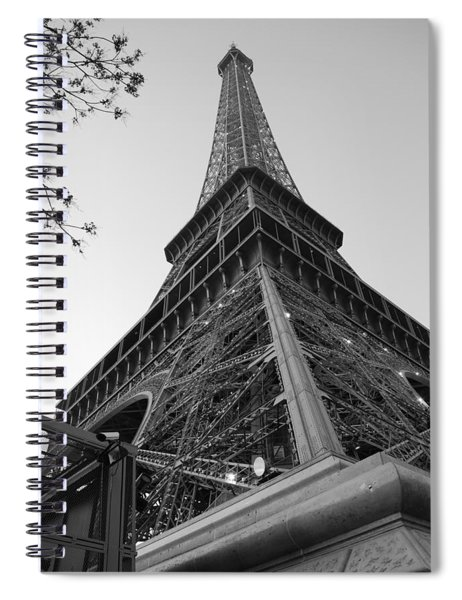 Eiffel Tower In Black And White Spiral Notebook
