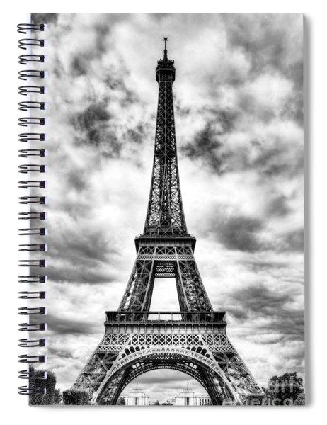 Eiffel Tower In Paris 3 Bw Spiral Notebook