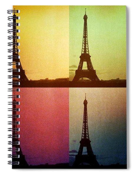 Eiffel Tower In Sunset Spiral Notebook