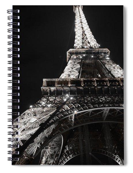 Eiffel Tower Paris France Night Lights Spiral Notebook