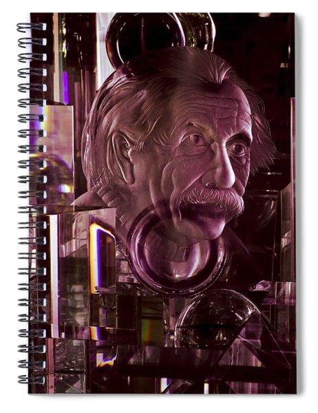 Einstein In Crystal - Purple Spiral Notebook
