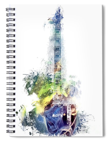 Electric Guitar Watercolor Instruments Spiral Notebook