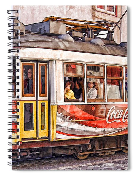 Electric Trolly Of Lisbon Spiral Notebook
