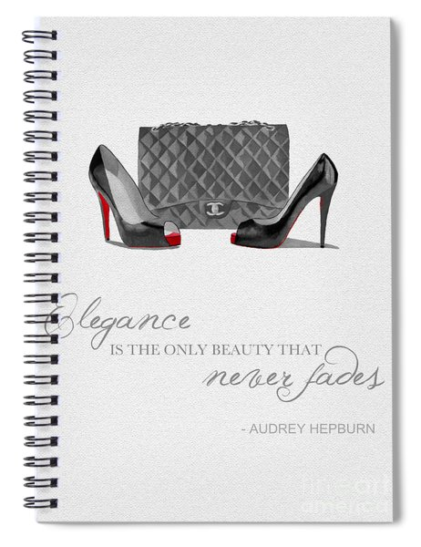 Elegance Never Fades Black And White Spiral Notebook