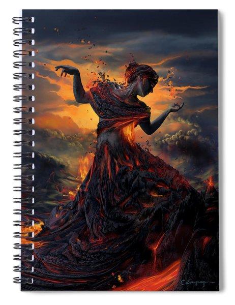 Elements - Fire Spiral Notebook