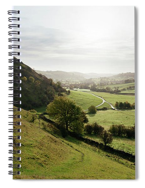 Elevated View Of A Landscape Spiral Notebook