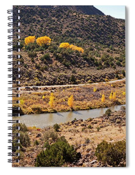 Elevated View Of Three Men Fishing Spiral Notebook