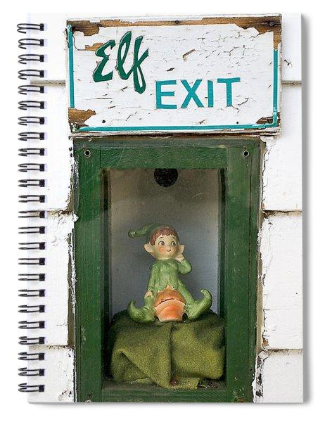 elf exit, Dubuque, Iowa Spiral Notebook