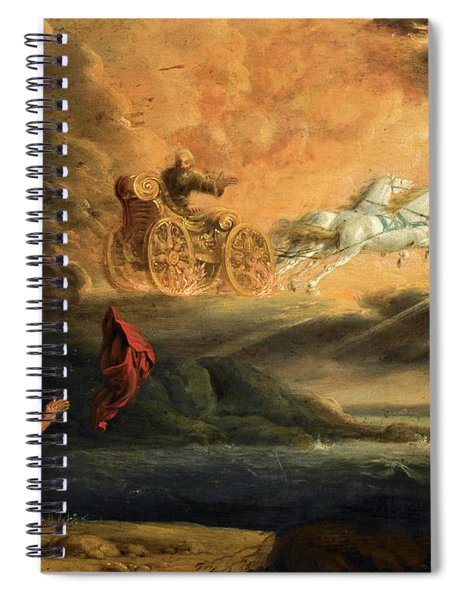 Elijah Taken Up Into Heaven In The Chariot Of Fire Spiral Notebook