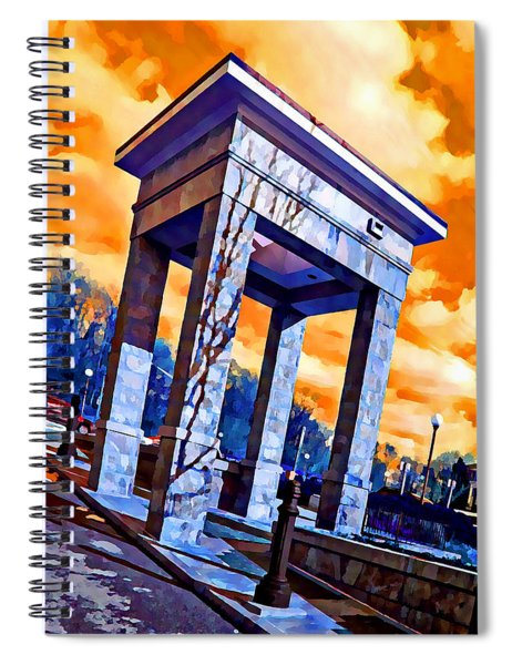 Ellicott City Courthouse Path Spiral Notebook