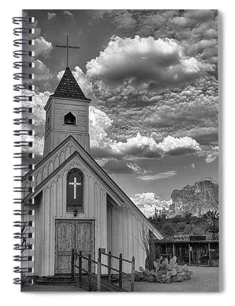 Elvis Presley Chapel At The Superstitions Spiral Notebook