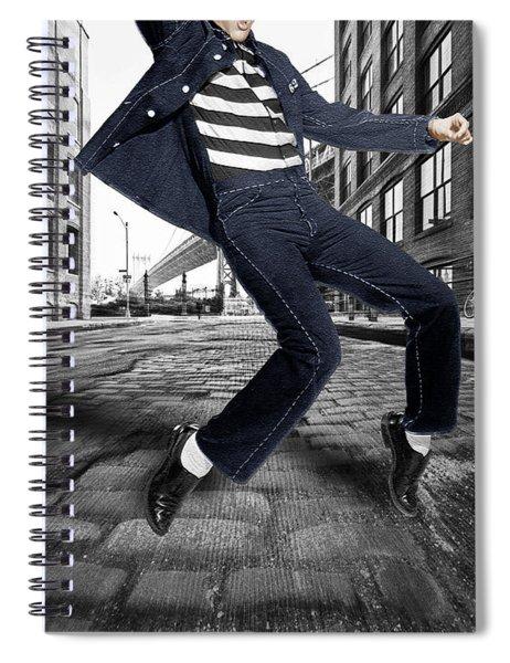 Elvis Presley In New York City Street Spiral Notebook