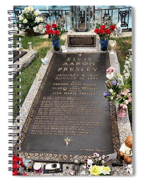 Elvis Presley Laid To Rest Spiral Notebook