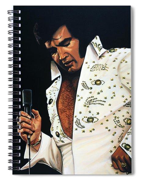 Elvis Presley Painting Spiral Notebook