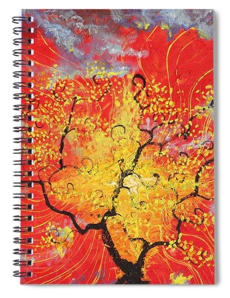 Embracing The Light Spiral Notebook