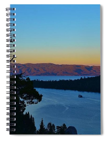 Emerald Bay Sunset Spiral Notebook