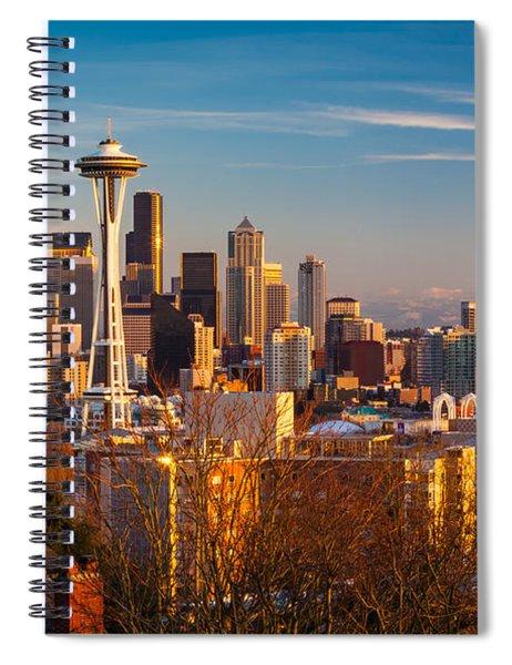 Emerald City Sunset Spiral Notebook