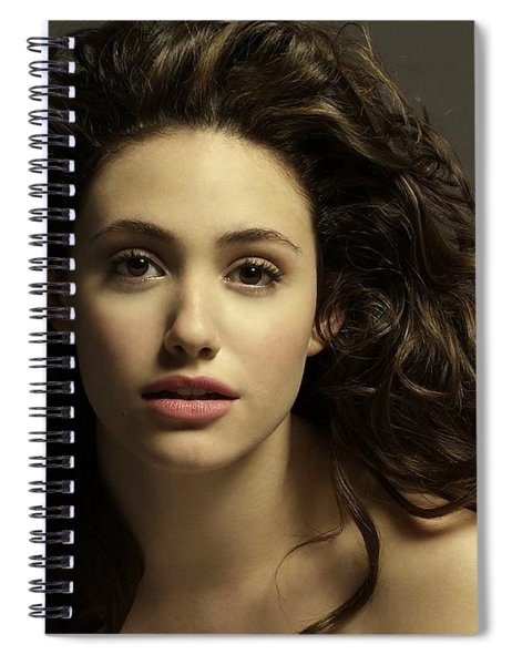 Spiral Notebook featuring the photograph Emmy Rossum by Movie Poster Prints