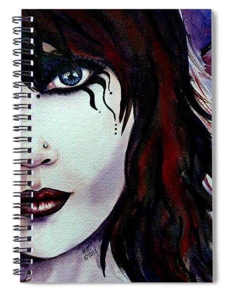 Emo Girl Spiral Notebook