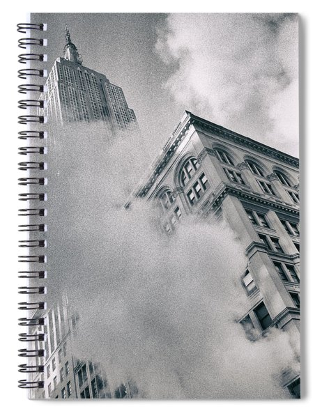 Empire State Building And Steam Spiral Notebook