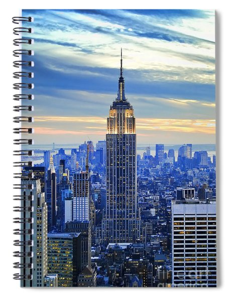 Empire State Building New York City Usa Spiral Notebook