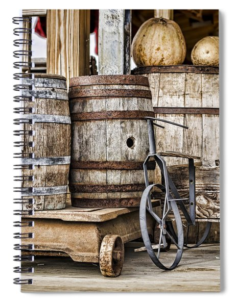 Emptied Barrels Spiral Notebook